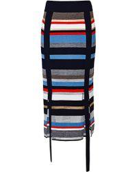 J.won - Stripe Knit Skirt - Lyst