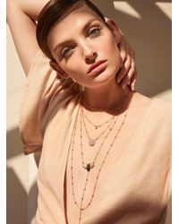 Maha Lozi - Rose Gold Dot Chain Necklace - Lyst