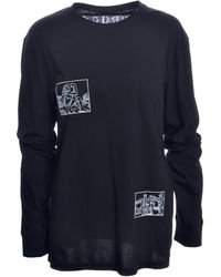 Bruta - Woodcut Embroidered Long Sleeved Tee - Lyst