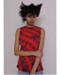 Aries - Twisted Tie Dye Vest Red/navy - Lyst