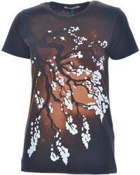 Simeon Farrar - Japanese Blossom Tee In Brown/black - Lyst