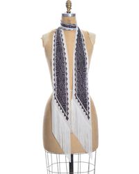 Rockins Classic Skinny Fringed Scarf - Multicolour