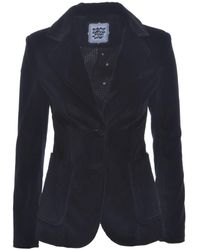 Rockins Black Velvet Two Button Blazer