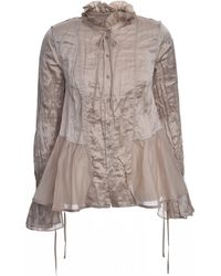 Renli Su Dusty Pink Mulberry Silk Shirt