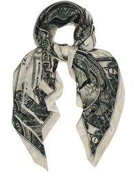 Marlow London Oversized Silk Dollar Scarf - Natural