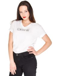 Killem With Chic - Classy Af Tee - Lyst