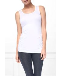 State & Manor Carson Rouched Tank - Ivory - White