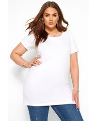 Yours Clothing White Longline T-shirt