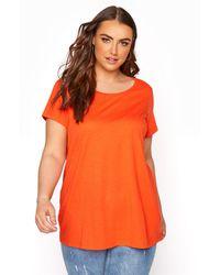 Yours Clothing Bright Orange T-shirt