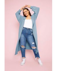 Yours Clothing Limited Collection Denim Blue Long Cardigan