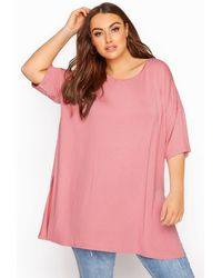 Yours Clothing Rose Pink Oversized T-shirt