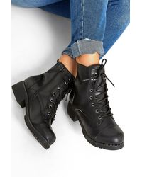 Yours Clothing Black Vegan Faux Leather Stud Ankle Boots In Extra Wide Fit