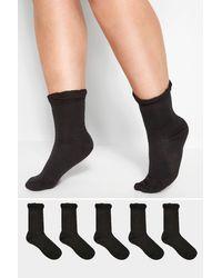 Yours Clothing 5 Pack Black Socks