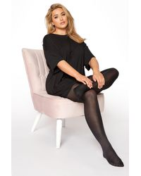 Yours Clothing 2 Pack Black 70 Denier Tights