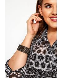 Yours Clothing Black Beaded Bracelet - Multicolour