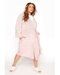 Yours Clothing Pink Cotton Jersey Star Robe