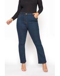 Yours Clothing Indigo Bootcut Isla Jeans - Blue