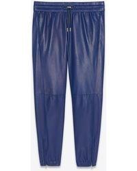 Saint Laurent Jogginghose aus lammleder - Blau