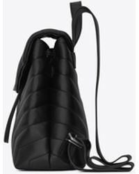 "Saint Laurent - Loulou Small Backpack In Matelassé ""y"" Leather - Lyst"