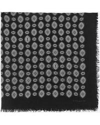 Saint Laurent Bandana en sergé de laine à imprimé cachemire vintage - Noir