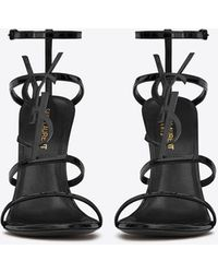 Saint Laurent Cassandra High Sandals - Black