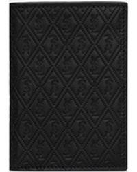 Saint Laurent Porta carte di credito le monogramme all over in morbida pelle goffrata - Nero