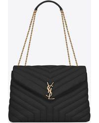 Saint Laurent Loulou Small Quilted Leather Shoulder Bag - Multicolour
