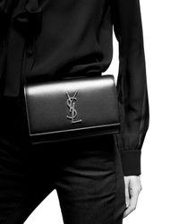 Saint Laurent Gürteltasche Kate aus Leder - Schwarz