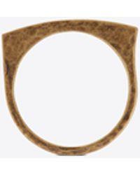 Saint Laurent Curb Ring - Metallic