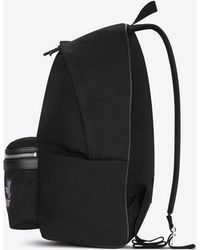 672483b17b Saint Laurent - City Backpack In Black Canvas With Zipper And Studs - Lyst