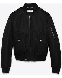 Saint Laurent Black Bomber Jacket