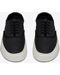 Saint Laurent VENICE sneakers en cuir grainé - Noir