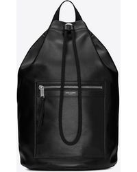 Saint Laurent City sailor backpack in smooth leather - Nero