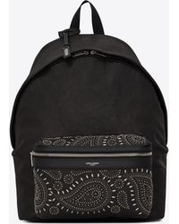 Saint Laurent - Bandana City Backpack In Vintage Leather And Studs - Lyst