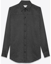 Saint Laurent Paisleyprint Cotton Shirt - Black