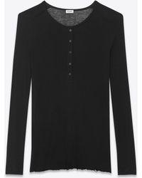 Saint Laurent Grunge T-shirt - Black
