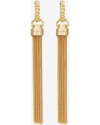 Saint Laurent Tassel hoop earrings in metal - Metallizzato