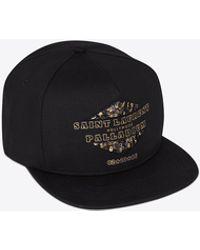 Saint Laurent - Palladium Hat In Black Denim Cotton Twill - Lyst