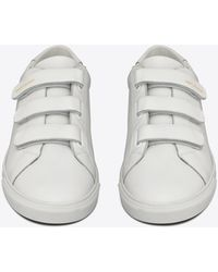Saint Laurent - Andy Sneakers In Smooth Leather - Lyst