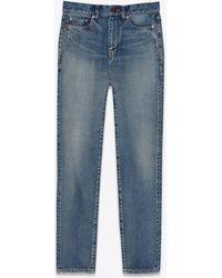 Saint Laurent Carrot-fit Jeans - Blue