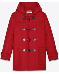 Saint Laurent Duffle coat in wool - Rosso
