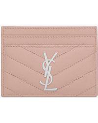 online store 0f930 3ed80 Monogram Card Case In Grain De Poudre Embossed Leather