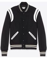 Saint Laurent Classic Teddy Jacket - Black