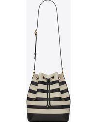 Saint Laurent Le Monogramme Bucket Bag In Smooth Leather - Black