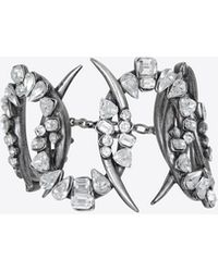 Saint Laurent Smoking Bracelet - Metallic