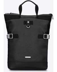 Saint Laurent Buckle Backpacks - Black