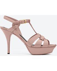 Saint Laurent Tribute Sandals - Pink