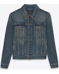 Saint Laurent Classic jacket in deep vintage blue denim