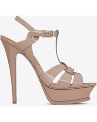 Saint Laurent Tribute sandals - Neutre