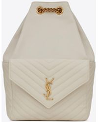 Saint Laurent Joe rucksack aus lammleder - Natur